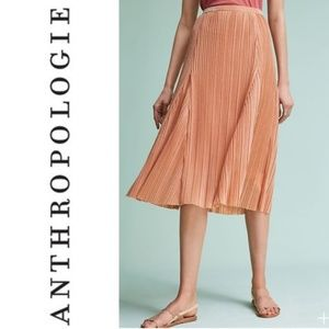 Anthropologie Rose Gold Metallic Skirt